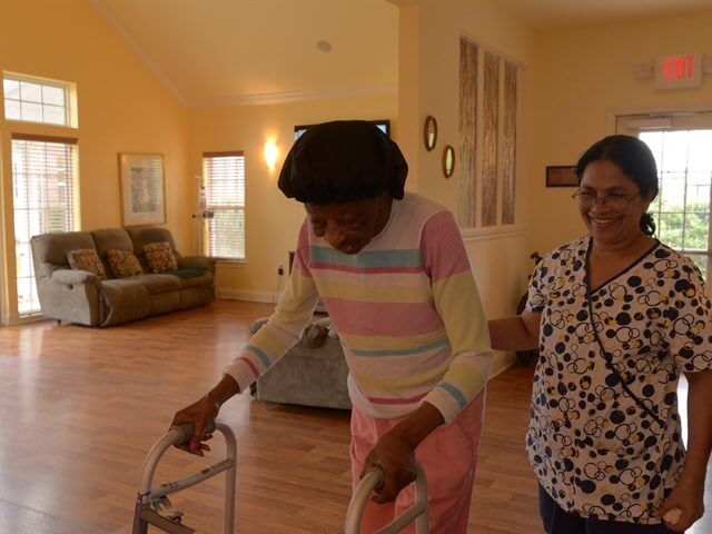 Resident and Caregiver
