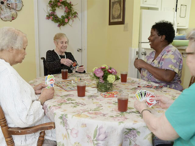 Ladies Playing Uno